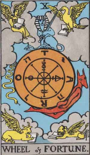 The Wheel of Fortune Tarot Card's Meaning: Love