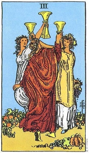 The Three of Cups Tarot Card's True Meaning: Love