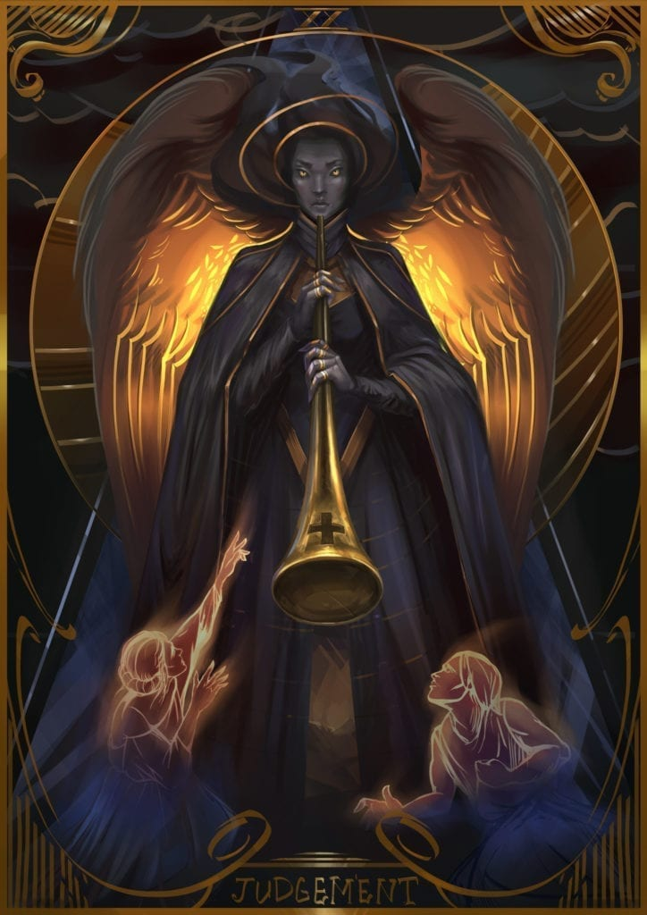 judgement card illustration