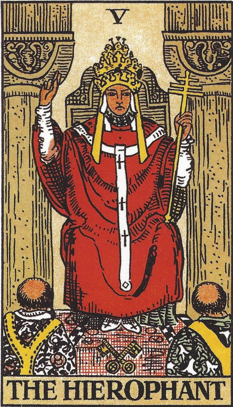 the hierophant rider-waite card