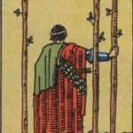 three of wands, rider-waite