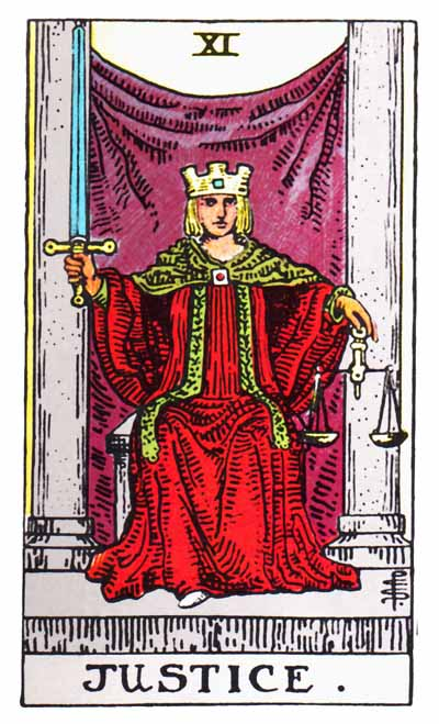 The Justice Tarot Card's True Meaning: Love, Relationships