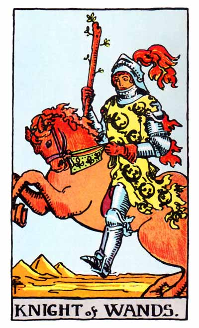 The Knight Of Wands Tarot Card S True Meaning Love Health And Money The card depicts a person sitting atop horse with pentacle in his hands. the knight of wands tarot card s true