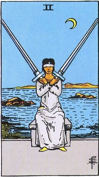 two of swords, rider-waite
