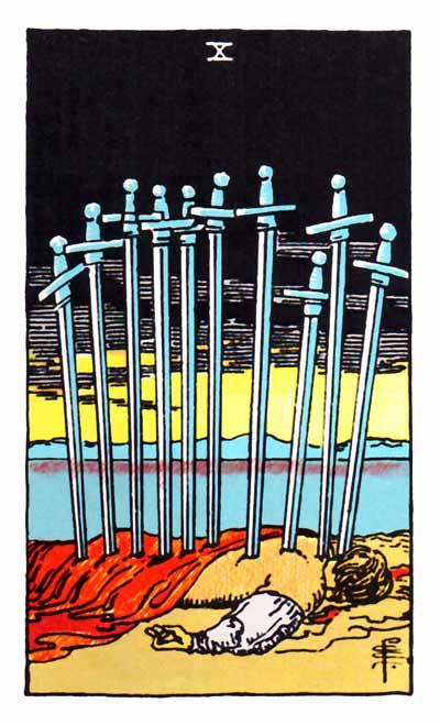 ten of swords rider-waite
