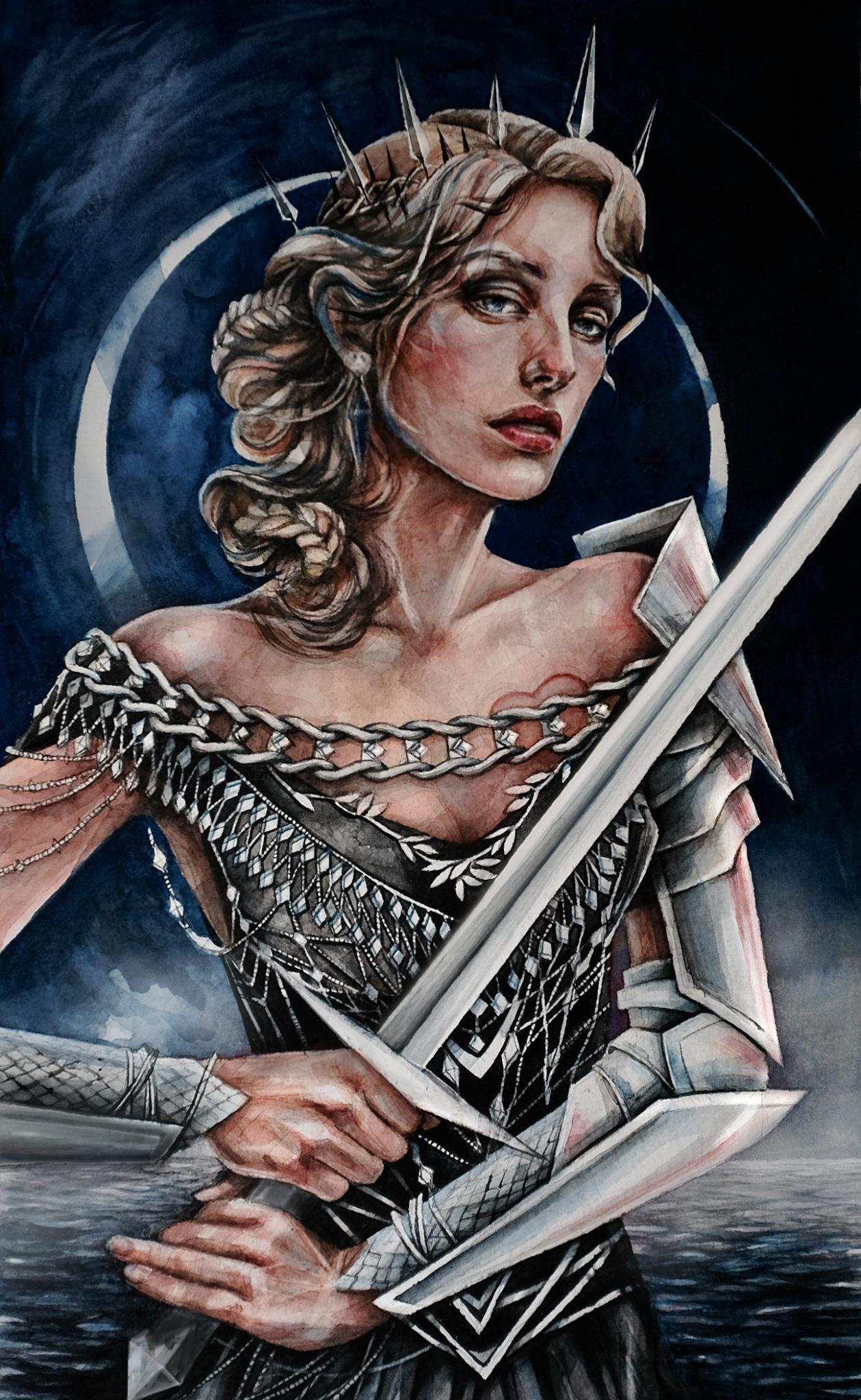 queen of swords illustration
