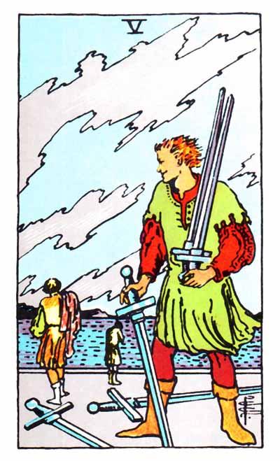 five of swords rider waite card