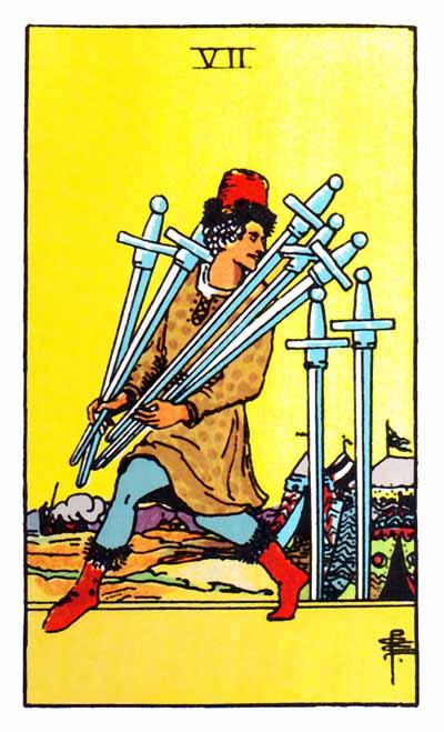 seven of swords rider-waite
