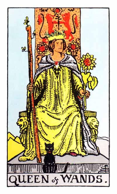 queen of wands rider-waite card