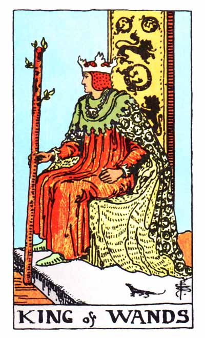 king of wands rider-waite