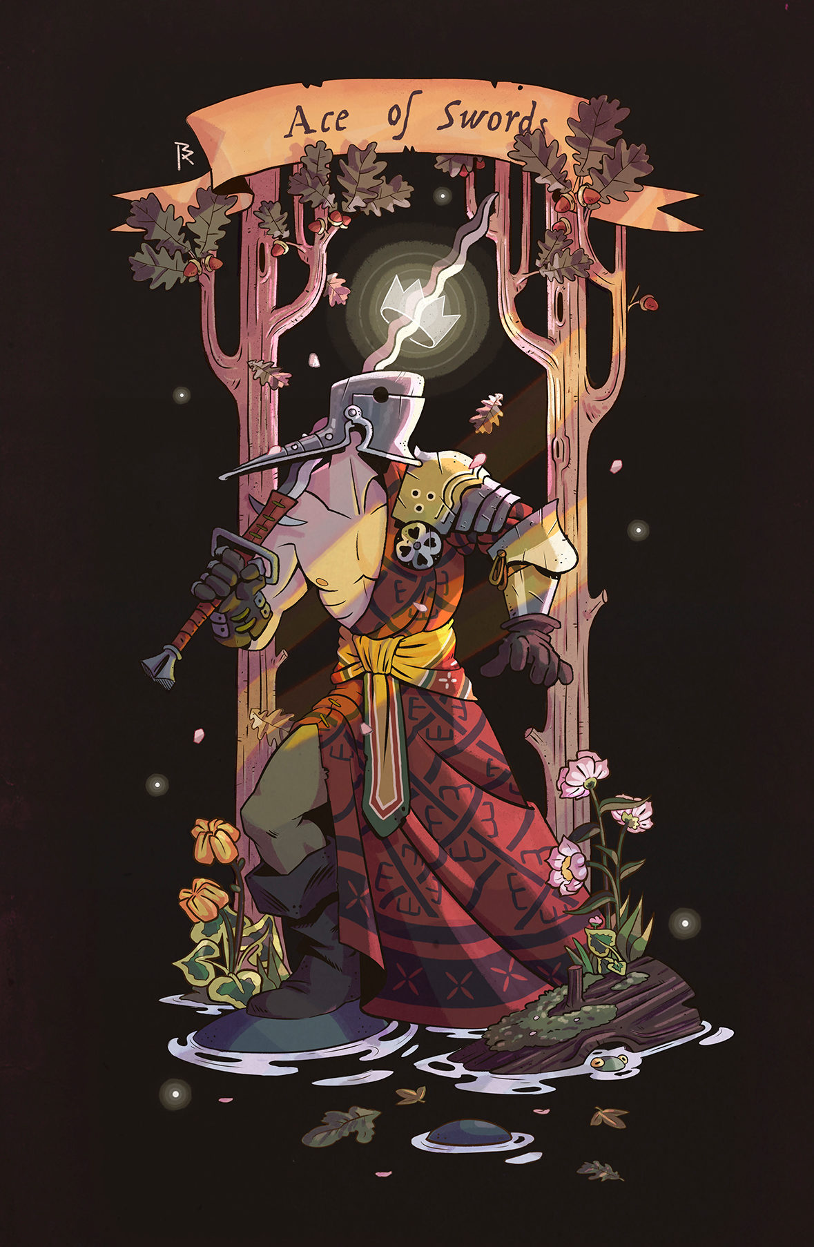 Ace of swords illustration