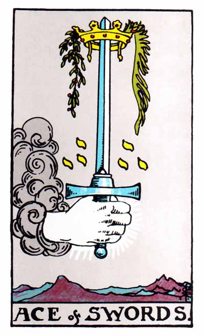 ace of swords, rider-waite