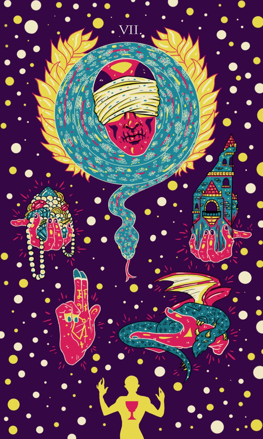 7 cups illustration