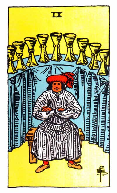 nine of cups rider-waite