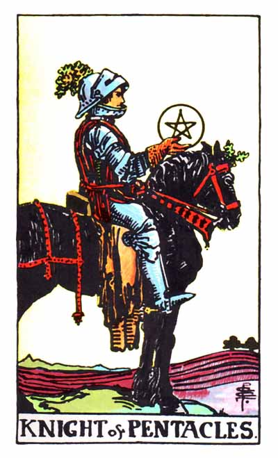 knight of pentacles, rider waite